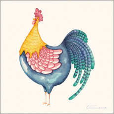 Canvas print  Gala Rooster - Timone