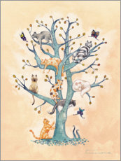 Wall sticker The Tree of Cat Life