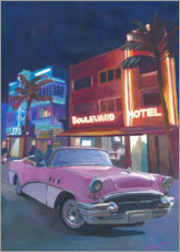 Gallery print  Ocean Drive at night, Miami - M. Bleichner
