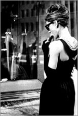 Premium poster  Croissant Scene - Breakfast at Tiffany's - Celebrity Collection