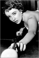 Premium poster Elizabeth Taylor at billiards