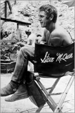 Premium poster Steve McQueen in the director's chair