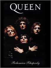 Wood print  Queen - Bohemian Rhapsody - Entertainment Collection
