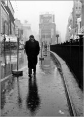 Foam board print  James Dean in Times Square - Celebrity Collection