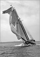 Aluminium print  Sailboat in full Speed