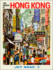 Acrylic print  Hong Kong - Jet BOAC - Travel Collection