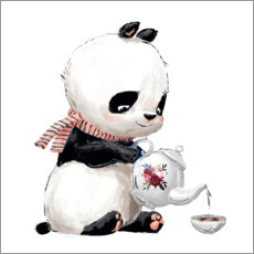 Premium poster  Tea time with panda
