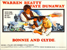 Premium poster Bonnie and Clyde