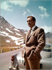 Acrylic print  Sean Connery in Goldfinger