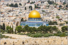 Premium poster  View from the Mount of Olives in Jerusalem - HADYPHOTO