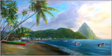 Wall sticker  Soufriere Beach - Jonathan Guy-Gladding