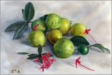Premium poster  Guavas and ixora largeb - Jonathan Guy-Gladding