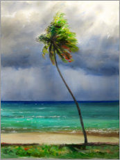 Canvas print  Bending coconut palm - Jonathan Guy-Gladding