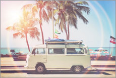 Foam board print  Camper under the palm trees - Sisi And Seb
