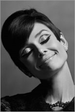 Premium poster  Audrey smiling - Celebrity Collection