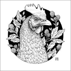 Canvas print  Pretty Chicken - Vasilisa Romanenko