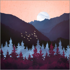 Gallery print  Mulberry Dusk Landscape - SpaceFrog Designs