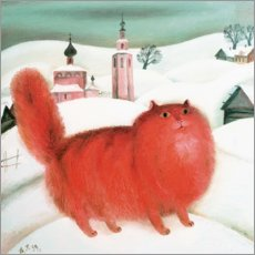 Aluminium print  Red Cat - David Khaikin