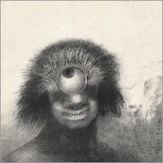 Acrylic print  Smiling and Hideous Cyclops - Odilon Redon