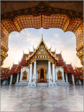 Gallery print  Marble temple in Bangkok - Matteo Colombo