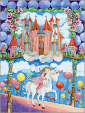 Canvas print  Princess and the unicorn in the magic land - Atelier BuntePunkt
