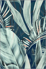 Wall sticker  Palm leaves collage - Art Couture