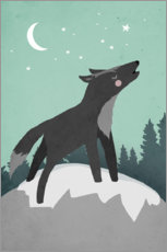 Premium poster Howling Wolf