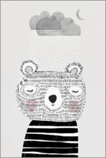 Premium poster Bear with snow cloud