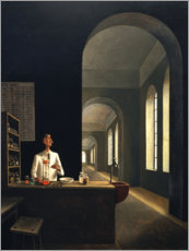 Wood print  The Chemist - Franz Sedlacek