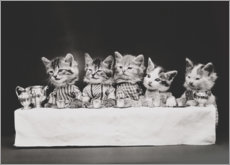 Acrylic print  Kitten at the table, vintage
