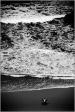 Aluminium print  Pre-surf on the beach - Fabio Sola