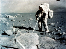 Canvas print  Harrison Schmitt on the lunar surface, Apollo 17