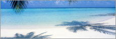 Acrylic print  Palm beach on the Maldives