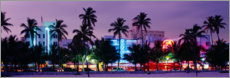Canvas print  The lights of Miami