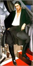 Acrylic print  Portrait of the Duchess of La Salle, 1925 - Tamara de Lempicka