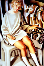 Aluminium print  Kizette on the balcony - Tamara de Lempicka