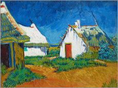 Canvas print  Three White Huts in Saintes-Maries - Vincent van Gogh