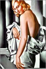 Wood print  Portrait of Marjorie Ferry - Tamara de Lempicka