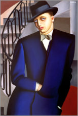 Canvas print  Portrait of the Marquis of Afflitto in the staircase, 1926 - Tamara de Lempicka