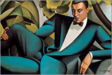 Foam board print  Portrait of the Marquis d'Afflitto - Tamara de Lempicka