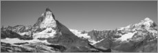 Wood print  Matterhorn Switzerland