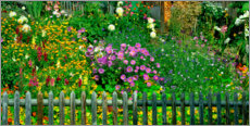 Acrylic print  A garden in Muren, Switzerland