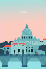 Premium poster Illustration of Rome