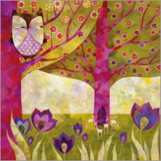 Canvas print  Tree worlds in spring - Aurelie Blanz
