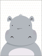 Wall sticker Hippo