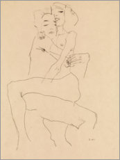Wall sticker  Couple Embracing - Egon Schiele