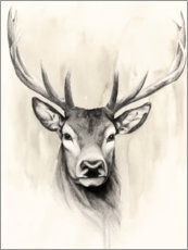 Wood print  Woodland Animals I - Grace Popp