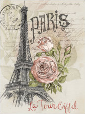 Canvas print  Paris and the Eiffel Tower - Jennifer Parker