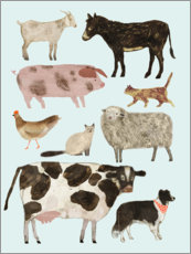 Wall sticker  Farm animals II - Victoria Borges
