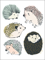 Foam board print  Cute hedgehogs I - June Vess
